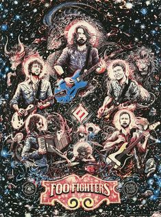 Foo Fighters Toronto Poster by Miles Tsang Foo Fighters Poster, Art Hippie, Concert Festival, Rock Band Posters, Band Wallpapers, Concert Posters, Music Posters, Gig Poster, Pop Culture Art
