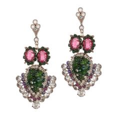 Theia's Mother Earth chandelier earrings