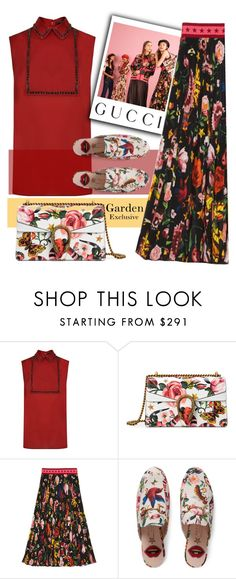 """""""Presenting the Gucci Garden Exclusive Collection: Contest Entry"""" by streetglamour ❤ liked on Polyvore featuring Gucci and gucci"""