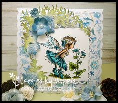 :o) So onto my card.and today I have played with one of my adorable Fairy . Dt Post, Christmas Sentiments, Digi Stamps, Lily Of The Valley, Copics, Little Gifts, I Card, Cardmaking, Birthday Cards