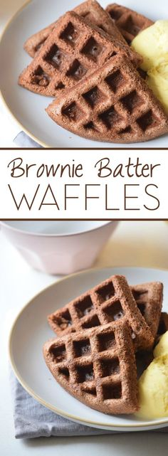 Why wait until after dinner to have dessert? Kick off your weekend with these Brownie Batter Waffles. Because the only thing better than waffles is chocolate waffles!