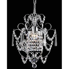 @Overstock - Add elegance style to your home decor with a crystal chandelier  Lighting has a chrome finish  Ceiling light features clear crystals  http://www.overstock.com/Home-Garden/Chrome-Crystal-Chandelier/4103767/product.html?CID=214117 $89.99
