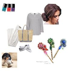 flower pins by marikaberka on Polyvore featuring ファッション, Converse, Vanessa Bruno Athé and Chanel