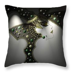 """Glam Throw Pillow (14"""" x 14"""") by Muge Basak.  Our throw pillows are made from 100% cotton fabric and add a stylish statement to any room.  Pillows are available in sizes from 14"""" x 14"""" up to 26"""" x 26"""".  Each pillow is printed on both sides (same image) and includes a concealed zipper and removable insert (if selected) for easy cleaning."""