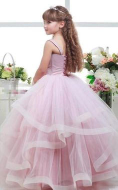 Toddler Princess Dress, Princess Flower Girl Dresses, Princess Party, Tulle Ball Gown, Tulle Dress, Ball Gowns, Blush Prom Dress, Blush Pink Dresses, Pink Dresses For Kids