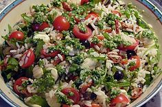 Italienischer Reissalat mit Tomaten, Rucola und Mozarella Italian rice salad with tomatoes, arugula and mozarella Lacto Vegetarian Diet, Vegetarian Recipes, Healthy Recipes, Fruit Recipes, Rice Recipes, Salad Recipes, Ensalada Cobb, Italian Rice, Gourmet