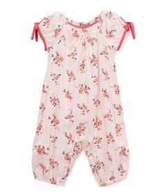 White & Pink Floral Romper - Infant