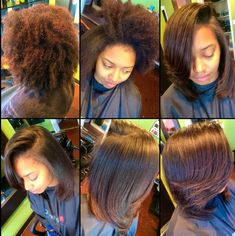 I just got my natural hair flat ironed for the first time in six months! Here's how I take care of it!