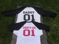 Perfect gift for Father's Day!  Daddy 01 daddy's girl 01 or Daddy's Boy 01 matching shirts, Daddy and me matching T-shirts,