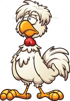 Groggy Chicken by memoangeles Groggy cartoon chicken. Vector clip art illustration with simple gradients. All in a single layer. Cartoon Birds, Cartoon Faces, Cartoon Drawings, Easy Drawings, Chicken Drawing, Chicken Painting, Chicken Art, Cartoon Kunst, Cartoon Art