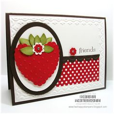 Summer Strawberry Punch Card
