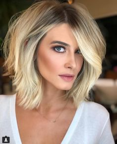 Short bob hairstyles have always been popular. Nowadays, hairstyle art is pursuing a more natural appearance. Simple, natural and energetic. So, what kind of short Bob hairstyle meets these requirements? Cute Hairstyles For Medium Hair, Short Bob Hairstyles, Summer Hairstyles, Bob Haircuts, Blonde Haircuts, Layered Hairstyles, Formal Hairstyles, Easy Hairstyles, Girl Hairstyles