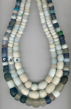 Antique Dutch glass African trade beads. These same beads were used in the Native American trade.