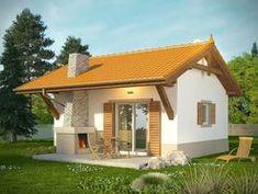 DOM.PL™ - Projekt domu KR DOMEK 6 CE - DOM KR5-83 - gotowy koszt budowy Village House Design, Village Houses, Small Farmhouse Plans, Compact House, My House Plans, Small House Design, Home Design Plans, Home Fashion, Tiny House