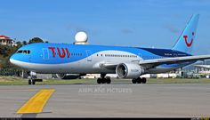 TUIfly Boeing 767-304/ER (registered PH-OYI) taxiing at St. Maarten