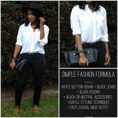how to style a white button down via downtown demure