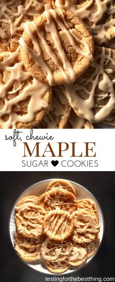 These sugar cookies are soft, chewy & have the most delicate maple flavor. They come together really quickly and the icing is easy to make. They're SO good! - www.testingforthebestthing.com/soft-maple-sugar-cookies/