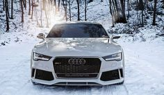 Snow white and the #Audi #RS7