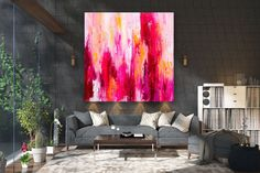 Large Painting on Canvas,Original Painting on Canvas,huge canvas painting,travel art decor,painting canvas art FY0071