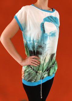 Predĺžené dámske tričko Visage