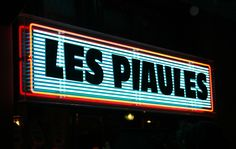 Backbar neon at Les Piaules hostel in Paris. #graphicdesign #neon