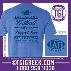 TGI Greek - Delta Gamma - Dad's Day - Comfort Colors - Greek T-shirts #tgigreek #deltgamma
