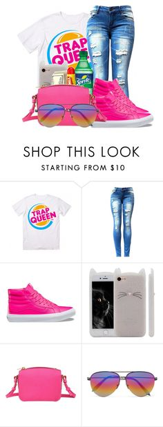 """""""on my way to burger king"""" by kiyanna0417 on Polyvore featuring Vans, Carmex, Sophie Hulme and Victoria Beckham"""