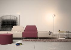 EFG InTouch is a playful modular seating solution for reception areas, lounges and - often spontaneous meeting spaces within the office. A perfect as a node in the open landscape, a place for people waiting – or just taking a break.
