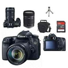 (1) Câmera Canon Eos 70d Com Lente 18-135+bolsa+tripé+32gb C/10 - R$ 5.390,00 em…