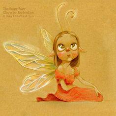 Un hada. #ilustración de Ewa Ludwiczak. Me mata la carita! :3