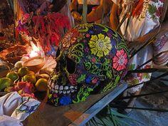 Day of the Dead altar decorations - Merida Yucatan Mexico
