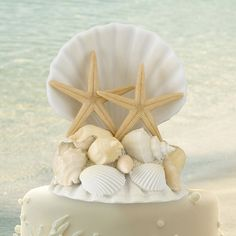Beach Seashells Cake Topper