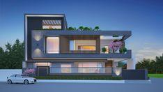 Duplex House Design, House Front Design, Building Elevation, House Elevation, Model House, Facade House, Modern Homes, Living Room Modern, Little Houses