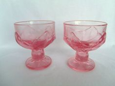 Vintage Pink Glass, Wedding, Tiffin Franciscan Cabaret, Gift, Collectible, Toasting Glasses by TheRoseGardenVintage on Etsy