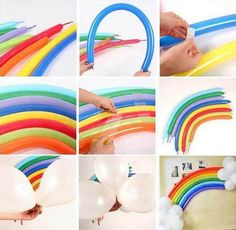DIY Rainbow Latex Balloon Wedding Valentine's Day Birthday Party Decoration Supplies Home Decor Photo Prop - family - Regenbogen Unicorn Themed Birthday, Little Pony Birthday Party, Valentines Day Birthday, Rainbow Birthday Party, Balloon Birthday, Rainbow Wedding, Rainbow Parties, Pony Party, Rainbow Unicorn Party