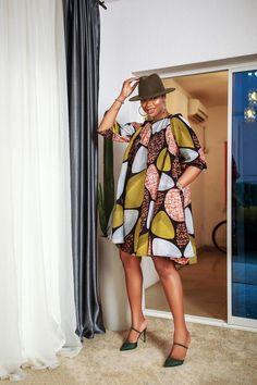 Ankara Styles For Women, Ankara Short Gown Styles, Ankara Gowns, Short Gowns, Dress Styles, Unique Dresses, Casual Dresses, Fashion Dresses, Yellow Pencil Skirt