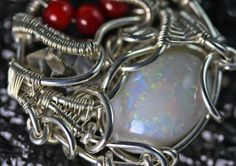 Opal Coral Herkimer DIamond  Wire Wrapped Talisman by PhilipCrow, $395.00
