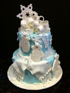 """""""Icing Smiles"""" Cakes  """"Winter ONEderland"""" cake for Icing Smiles..."""