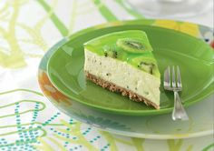 This Kiwi Fruit Cheesecake is a beautiful no bake recipe that is quick and delicious. It's such a refreshing dessert you will love.