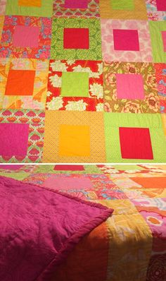hand-pieced, hand-quilted cotton quilt with velvet binding