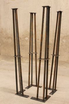 Metal Table Legs 28 Set of 4 Legs ReBar by nakedMETALstudio