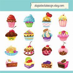 Cute Cupcake Clip Art | Cute Cake Clipart - Clipart Kid