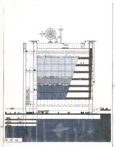 Elevation : Centre Pompidou, Paris France | Rogers Stirk Harbour + Partners : RSHP