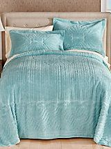 Clamshell Chenille Bedspread and Sham | Blair