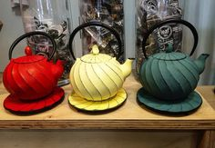 NEW // cast iron teapots // bright colours // many styles //  // pop in 108 Pakington St Geelong West or 124 Ryrie St Geelong // #leaftea #leafteaaustralia #geelong #geelongwest #torquay #barwonheads #oceangrove #lorne #bellsbeach #pointcook #portfairy #tea #teas #teapots #castironteapots #queenscliff  #williamstown #warrnambool #herbs #herbalist #herbaltea #paleo #vegan #looseleaforganictea #colac #geelongcity #matcha #teatank #teabottle by leafteaaustralia http://ift.tt/1hBea7J