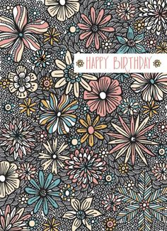 Jane Ryder-gray - Black And White Flowers Happy Birthday Notes, Birthday Pins, Happy Birthday Greetings, Birthday Quotes, Birthday Ideas, Greeting Words, Happy Birthdays, Happy Everything, Black And White Flowers