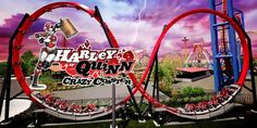 Harley Quinn Crazy Coaster at Six Flags.<<<I saw this the last time I went, I can't waitttt, ahhh Six Flags, The Last Time, Animation Series, Roller Coaster, First World, Harley Quinn, Coasters, Park, Fun