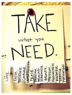 Cute!  Take what you need. Put bible verses on the back for daily encouragement!