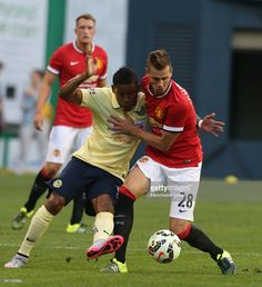 Morgan Schneiderlin of Manchester United in action during the International Champions Cup 2015 match between Manchester United and Club America at CenturyLink Field on July 2015 in Seattle,. International Champions Cup, Club America, Manchester United, Soccer, Action, The Unit, Football, Running, Futbol