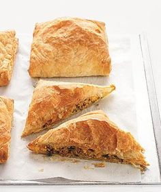 Sweet potato and beef turnovers.